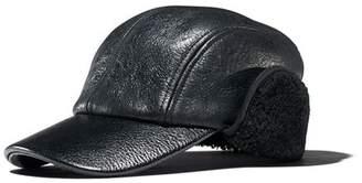 Rag & Bone Leather & Faux Shearling Baseball Cap