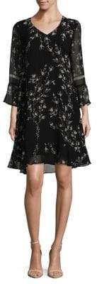 Taylor Floral Chiffon Shift Dress