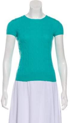Ralph Lauren Black Label Cashmere Short Sleeve Top