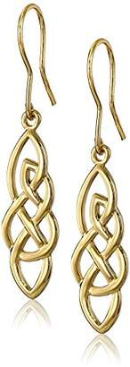 Celtic Sterling Silver Elongated Knot Drop Earrings