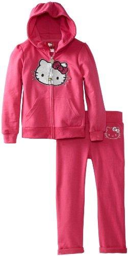 Hello Kitty Girls 2-6X Hooded Active Set, Fuchsia Purple, 5