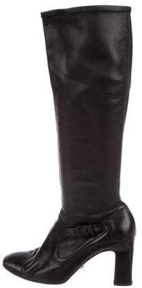 Giorgio Armani Leather Knee-High Boots