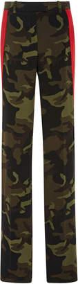 Michael Kors Side Stripe Straight-Leg Track Trouser