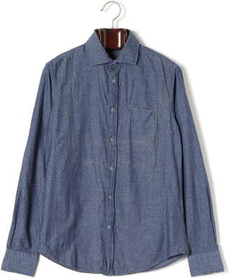 Gas Jeans (ガス) - GAS SASHA/S スプレッドカラー 長袖シャツ ブルー m