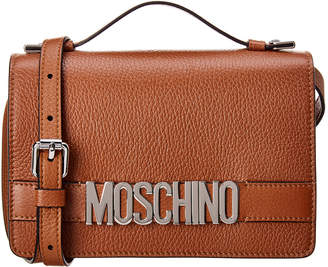 Moschino Logo Leather Satchel
