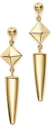 Bloomingdale's 14K Yellow Gold Pyramid Arrow Drop Earrings - 100% Exclusive