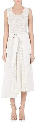 Victoria Beckham Women's Smocked Gauze Wrap Dress