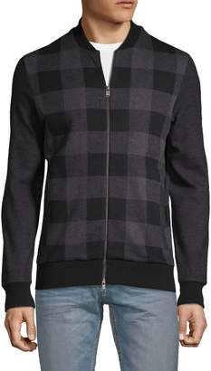 HUGO Salea Buffalo Check Bomber Sweater