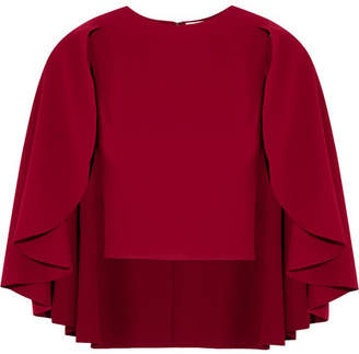 Alice + Olivia Alice Olivia - Babette Cape-effect Crepe Top - Red