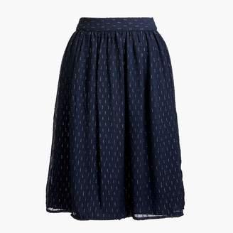 J.Crew Gold thread midi skirt