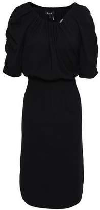 DKNY Shirred Cotton-blend Jersey Dress