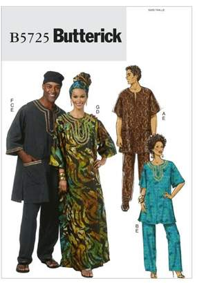 McCall Pattern Misses'/Men's Tunic, Caftan, Pants, Hat and Head Wrap-XN (XLG-XXL-XXXL) -*SEWING PATTERN*
