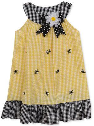 Rare Editions Gingham Seersucker Bee Dress, Baby Girls (0-24 Months) $36 thestylecure.com