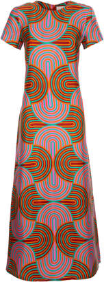 La DoubleJ Swing Printed Silk Dress