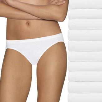 Hanes Women's 10-Pack Holiday Box Ultimate Bikini 42KP10