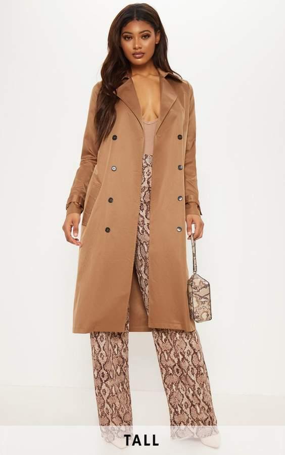 Tall Brown Oversized Longline Coat