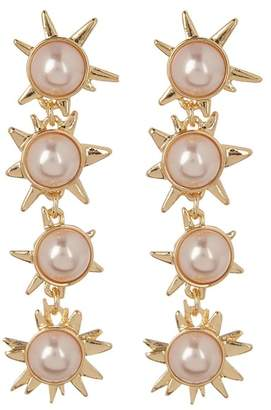 BaubleBar Faux Pearl Starburst Drop Earrings