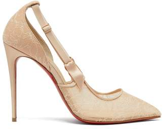 Christian Louboutin Hot Jeanbi 110 Lace Pumps - Womens - Nude
