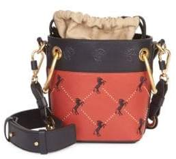 Chloé Mini Little Horses Embroidered Leather Bucket Bag
