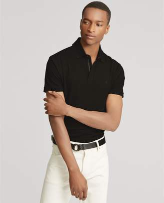 Ralph Lauren Zip-Placket Stretch Pique Polo
