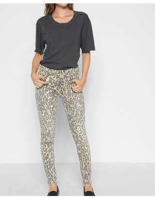 7 For All Mankind Ankle Skinny In Cheetah Print