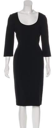 Fendi Wool Sheath Dress Black Wool Sheath Dress