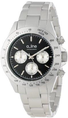 A Line A _ LINE Women 's al-20050-sl-bk AmoreクロノグラフブラックダイヤルシルバートーンアルミニウムWatch