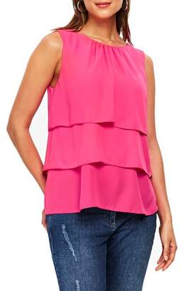 Wallis Tiered Sleeveless Top