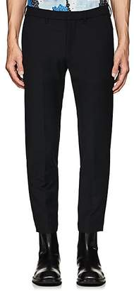 Off-White MEN'S STRETCH COTTON-BLEND CHINO SKINNY TROUSERS - BLACK SIZE 38