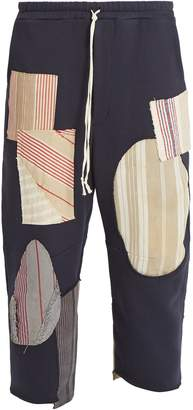 BY WALID Jay patchwork cotton trousers