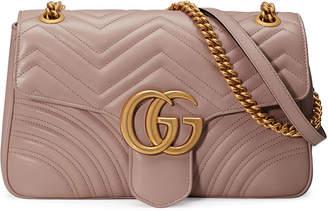 cb1547994 Gg Marmont Medium Leather Shoulder Bag - ShopStyle