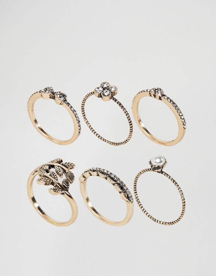 ALDO Jewelled Stacking Rings