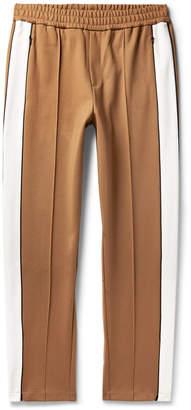 Striped Scuba-Jersey Track Trousers