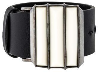 GivenchyGivenchy Resin Triple Stud Leather Bracelet
