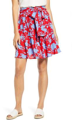 Gibson x Hi Sugarplum! Capri Tiered Tie Front Summer Skirt