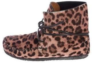 Etoile Isabel Marant Flavie Leopard Print Booties