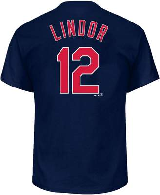 Majestic Big & Tall Cleveland Indians Francisco Lindor Name and Number Tee