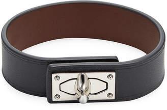Givenchy Shark Lock Leather Bracelet