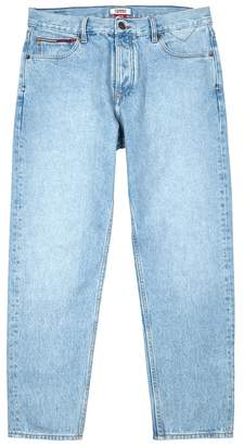 Tommy Jeans Light Blue Cropped Relaxed Jeans