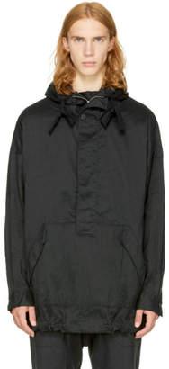 Ziggy Chen Black Half-Zip Pullover Jacket