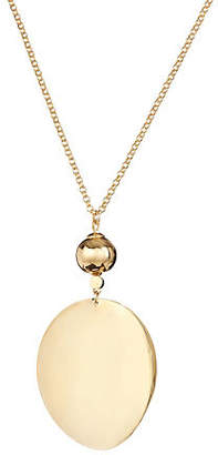 Kate Spade Gold Standard Oval Long Pendant Necklace