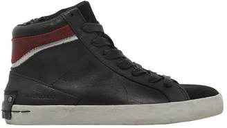 Nappa Leather & Suede High Top Sneakers