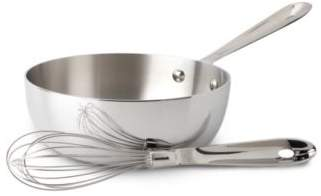 All-Clad Stainless Steel 2-Quart Saucier with Whisk