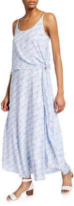 Club Monaco Thereeza Printed Scoop-Neck Sleeveless Side-Tie Dress