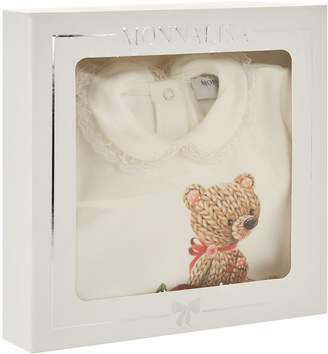 MonnaLisa Floral Bear All-In-One