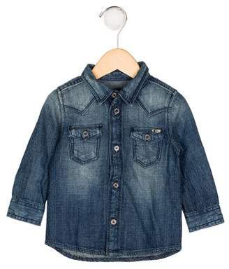Diesel Boys' Denim Button-Up Shirt