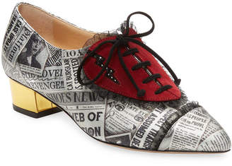 Charlotte Olympia Patch Embroidery Oxford