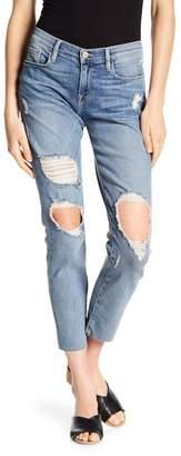 Frame Le Garcon Distressed Raw Hem Boyfriend Jeans