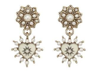 Marchesa Small Heart Drop Earrings