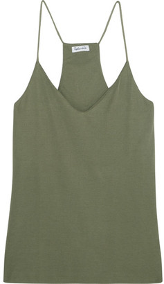 Splendid - Sandwashed Ribbed-knit Camisole - Army green $105 thestylecure.com